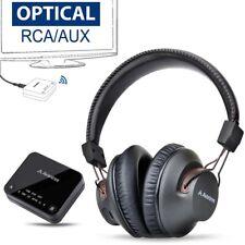 TV aptX-HD Long Range Bluetooth Dual Transmitter Headphones SET for TV
