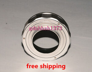 High-quality M52 to M42 Adjustable Focusing Helicoid adapter 25mm~55mm silvery