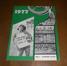 1977 SLIPPERY ROCK UNIVERSITY - THE ROCK - FOOTBALL MEDIA GUIDE