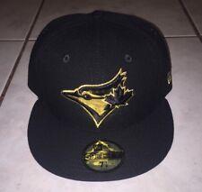 TORONTO BLUE JAYS Rare NEW ERA 2016 Metallic Gold/Black 59Fifty Hat Cap 7 1/8