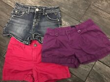 Gap Justice Cherokee Size 12 Shorts Lot Cuff Purple Pink Blue Jeans