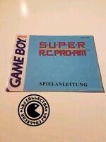 Super R.C pro-AM - gameboy - nintendo - notice NOE