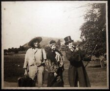 CIRCA 1910 HOBO VICTORIAN MISS CARNIVAL BARKER COSTUME PHOTOGRAPH LARGE FORMAT