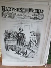 Vintage Print,WHAT ARE YOU GOING TO DO ABOUT IT,Harpers,Nast,1872, #2