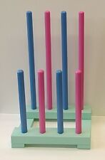 Wellington Boot Stand Wooden Wellie Rack Welly Storage Multi Colour 4 or 6 Pair