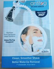 Anti-Fog Shower Mirror Acrylic 7 Inch Easy Install Adjustable Arm