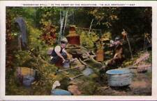 (zg5) Postcard: Moonshine Still in Old Kentucky
