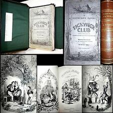 1836 PICKWICK PAPERS CHARLES DICKENS 1ST EDITION ORIGINAL PARTS 43 ILLUS CASE $$