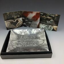 """Wendell August Forge Las Vegas Coin Key Tray 5"""" By 4"""" Aluminum With Info And Box"""