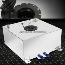 20 GALLON/78 LITER POLISHED ALUMINUM RACING DRIFT FUEL CELL TANK+LEVEL SENDER