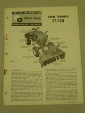 1963 WHEEL HORSE TRACTOR ST-324 SNOW THROWER PARTS LIST MANUAL