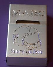 boite a cigarette en aluminium anodisé gravée personnalisée casque f1 pompier