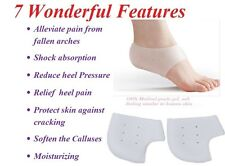 GEL Heel Socks for Dry Hard Cracked Heels, Moisturizing Skin, heal skin crack