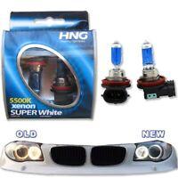 H8 Xenon Match Bulbs White Angel Eyes DRL 5500K for 5000K 6000K HID 12V for BMW
