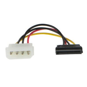 4Pin Male IDE Molex to SATA Power Female Cable Adapter for HDD DVD CD ROM Drives