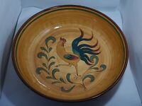 "VTG Pennsbury Pottery ""Red"" Rooster Design Large 13"" Serving Bowl - RARE!"