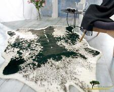 Fellteppich Webpelzteppich Teppich Kuhfell schwarz