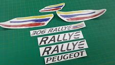 Peugeot 306 Rallye decals stickers graphics replacement restoration anthracite