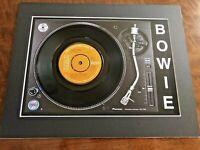 "David Bowie - Boys Keep Swinging - Genuine 7"" Single on a Record Player Print"
