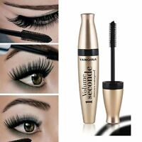 Black 3D Fiber Long Curling Eyelash Mascara Extension Waterproof Makeup Cosmetic