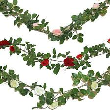 Artificial Garland with Rose Flower 1.9 Metre - Wedding Decoration