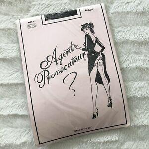 Rare Agent Provocateur Fishnet Holdups Discontinued Vintage Black Size C Large