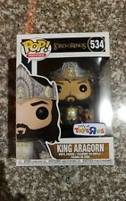 FREE SHIPPING Funko POP King Aragorn #534 LOTR Toy R Us Exclusive &pop protector
