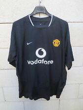 VINTAGE Maillot MANCHESTER UNITED Nike shirt noir away collection football XL