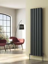 Reina Belva Single Vertical Aluminium Radiator 1800mm H x 308mm Anthracite