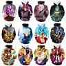 Fashion 3D Dragon Ball Z Hoodie Dark Goku Print Women Men pullover Sweatshirt
