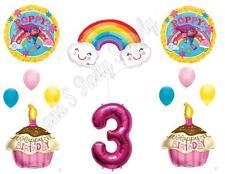TROLLS POPPY & RAINBOW 3rd Movie Birthday Party Balloons Decoration Supplies