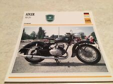 Carte moto Adler MB250 MB 250 1955 collection Atlas Motorcycle