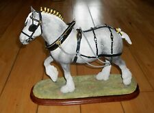 More details for large limited border fine arts b0888a the champion shire grey horse figurine