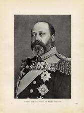 1899= Prince ALBERT = Regnanti d'Europa = ANTICA FOTO
