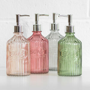 500ml Glass Vintage Lotion Liquid Soap Dispenser Bathroom Kitchen Sink Accessory
