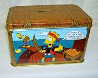 Simpson's Tin Box Treasure Chest Tin Bank Butter Finger Advertising