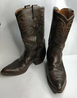 Dan Post Cowboy Western Boots Men Size 9.5D Brown Leather Upper
