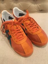 Asics Onitsuka Tiger Corsair Mens Nylon Athletic Shoe Size 8.5 Orange Blue D321N