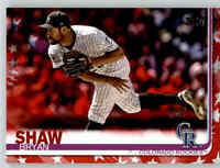 2019 Topps Series 2 BRYAN SHAW Independence Day /76 Rockies #415