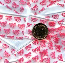 100 Panther Apple Baggies 125 X 1 Mini Zip Bags 12510 Plastic Pink
