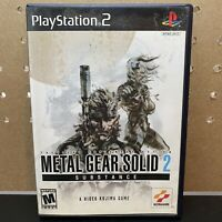 Metal Gear Solid 2: Substance PS2 Playstation 2 Complete W/ Manual- Tested!