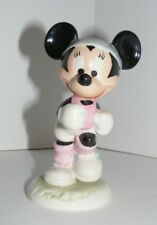1980's Goebel W. Germany Walt Disney Minnie Mouse Jogging ~ Artist Signed