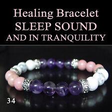 Sound and Tranquil Sleep Healing Gemstone Bracelet Natural Chakra Yoga Stones