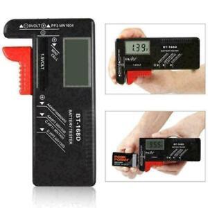BT168D LCD Smart Digital Battery Tester Electronic Measure W3C9 Batter New.