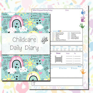 CHILDCARE DIARY CHILDMINDERS DAILY JOURNAL EYFS RECORD KEEPING EARLY YEARS doodl