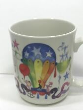 "VILLEROY BOCH LE BALLON CIRCUS MUG 3 5/8"" by Jean Mercier Hot Air Balloons DISC"