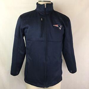 New England Patriots NFL APPAREL FULL ZIP-UP Sweater Jacket SIZE XL 18/20 Boys