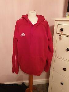 ADIDAS Mens Hoodie Hoody Pullover Top Core 18 Hooded Sweatshirt XL RED XL