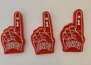University of Nevada Las Vegas Rebels foam finger # 1 top UNLV set 3 fan running