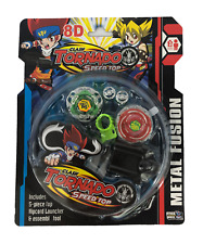 2 Bey with LED light Clash Tornado Metal Fusion Beyblade Speed Top Set